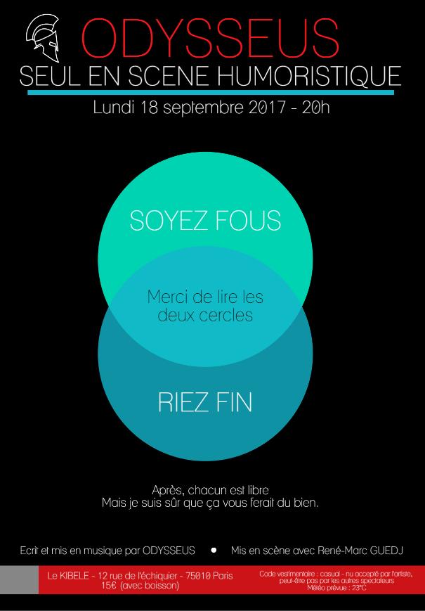 ODYSSEUS, le 18 Septembre - Petit Théâtre du Kibélé