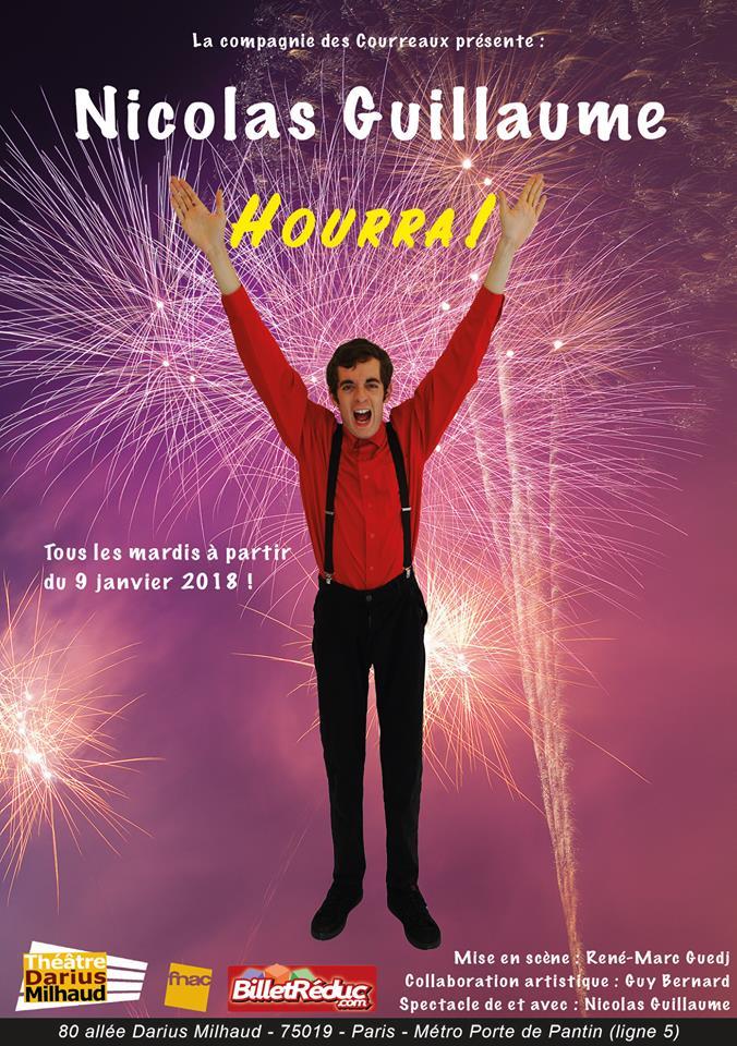 Nicolas Guillaume, le 16 Janvier - Théâtre Darius Milhaud
