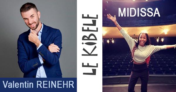 MIDISSA et Valentin REINEHR, le 5 Février - Petit Théâtre du Kibélé