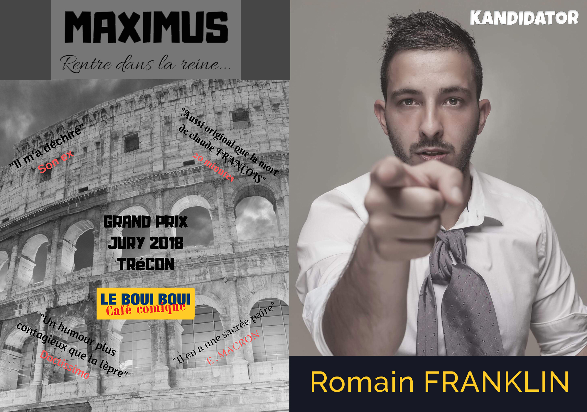MAXIMUS et Romain FRANKLIN, le 14 Avril - Boui Boui Café Comique