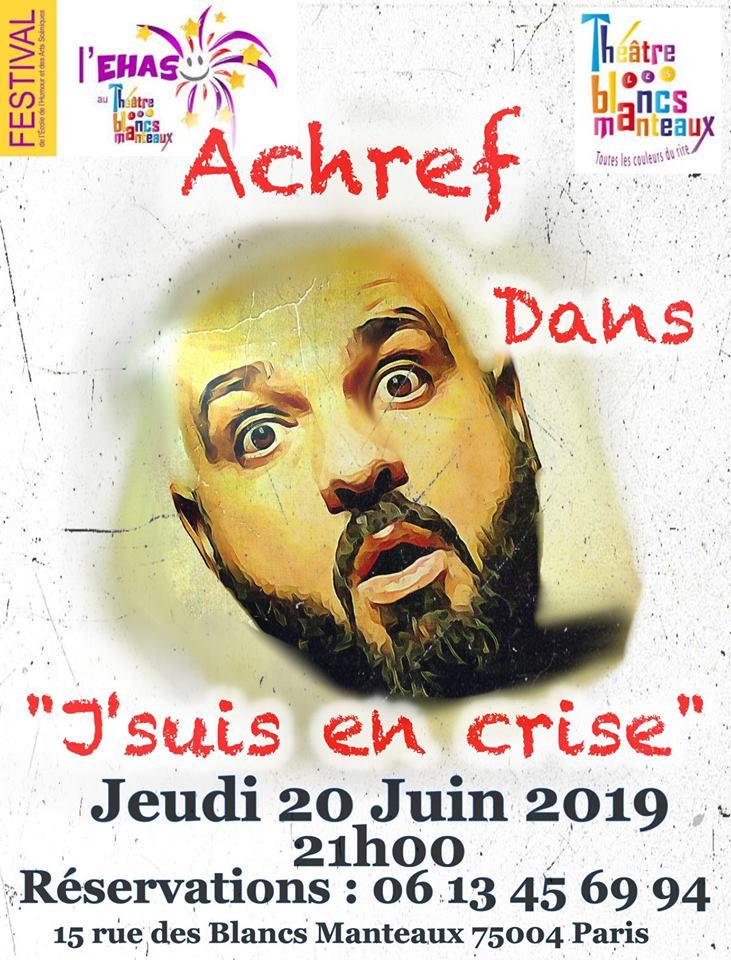 Achref, le 20 Juin - Théâtre des Blancs-Manteaux