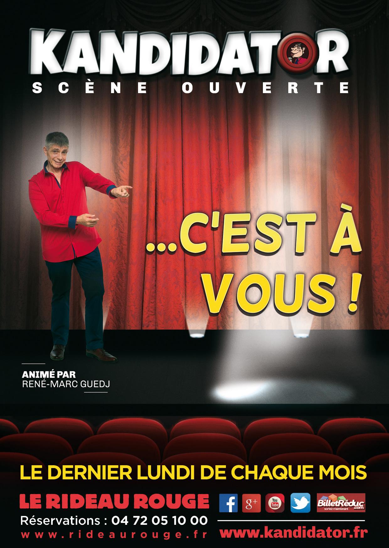 Finale Lyonnaise de Kandidator, le 24 Juin - Le Rideau Rouge