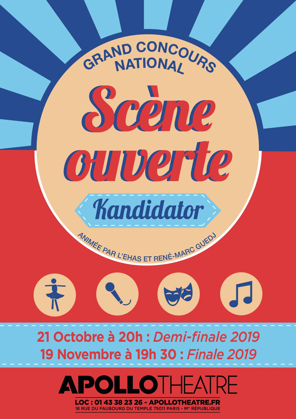 Demi-Finale Kandidator 2019, le 21 Octobre - Apollo Théâtre