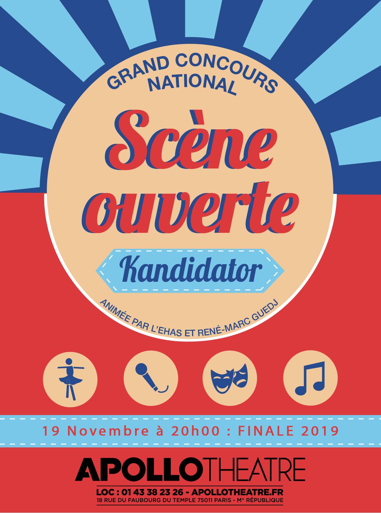 Finale Kandidator 2019, le 19 Novembre - Apollo Théâtre