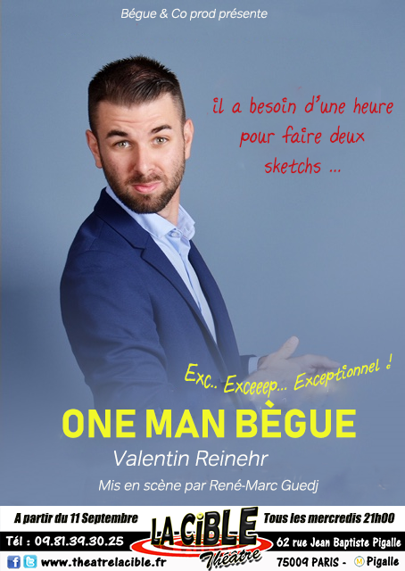 Valentin REINEHR, le 27 Novembre - Théâtre La Cible