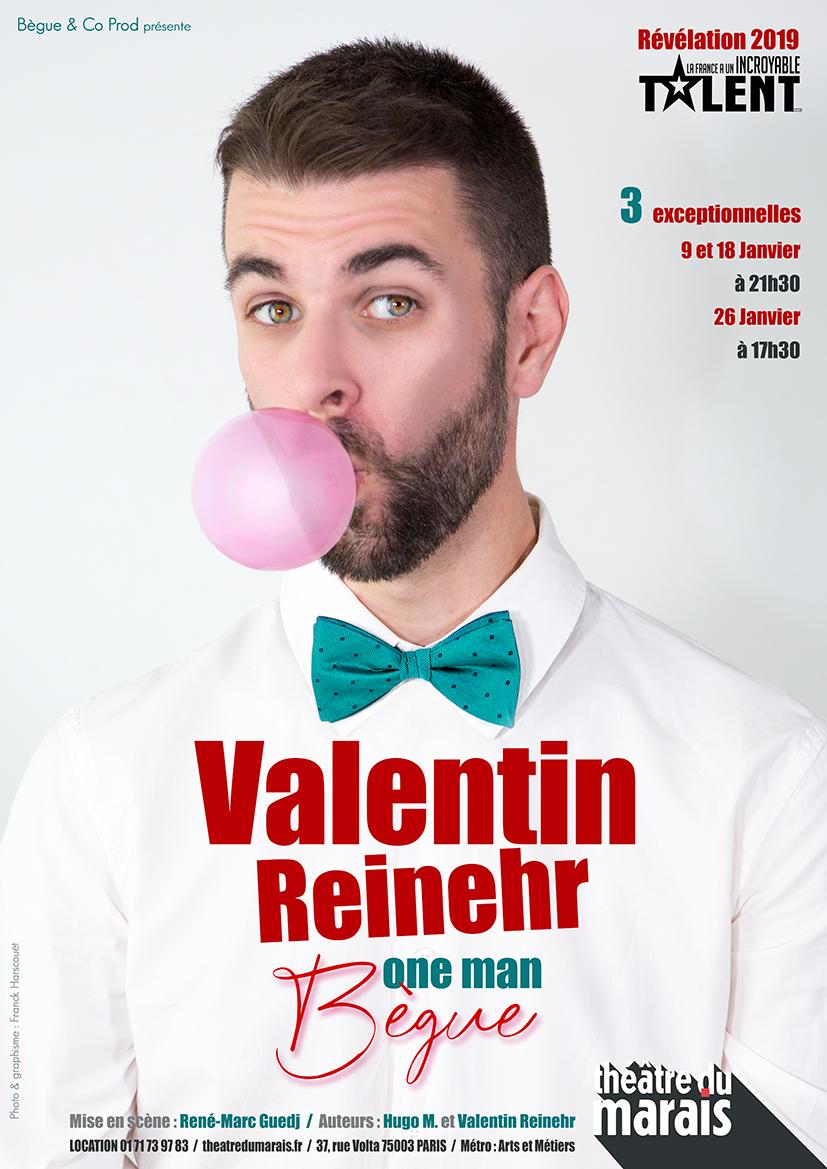 Valentin REINEHR, le 26 Janvier - Théâtre du Marais
