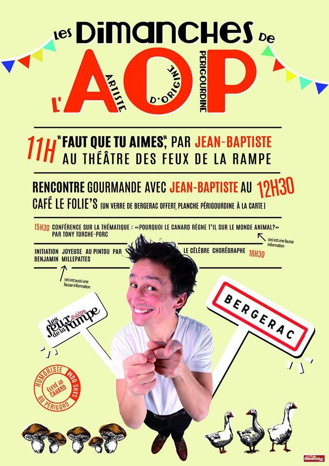 Jean-Baptiste Siaussat, le 29 Janvier - Théâtre des Feux de la Rampe