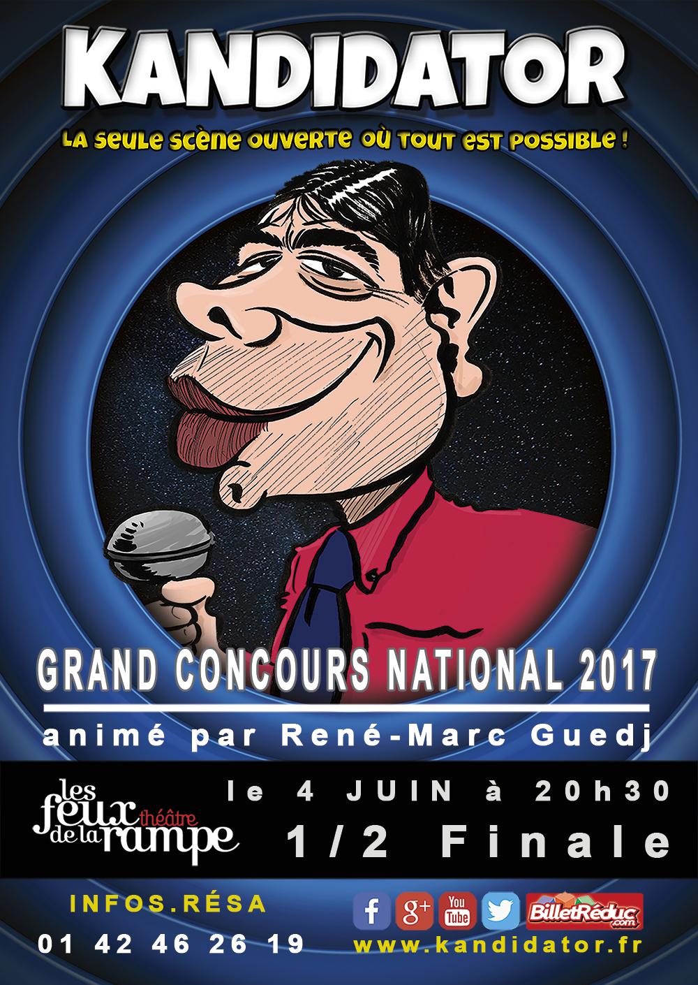 1/2 Finale 2017, le 4 Juin - Théâtre des Feux de la Rampe